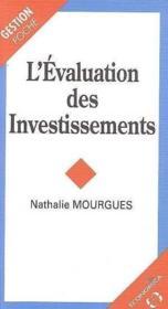 L'evaluation des investissements - Couverture - Format classique
