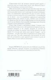 Intervention et humanisme ; le style des armees francaises en afrique au xix siecle - 4ème de couverture - Format classique