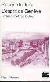 L'Esprit De Geneve - Couverture - Format classique