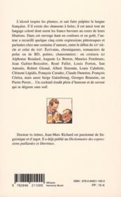 L'argot des francs-buveurs - 4ème de couverture - Format classique