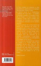 Temple et contemplation - 4ème de couverture - Format classique