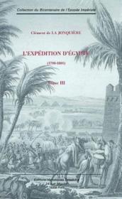 L'Expedition D'Egypte T.3 - Couverture - Format classique