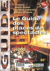 Guide Des Places De Spectacle 2000-2001 - Intérieur - Format classique