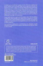 Reduction de la violence a l'ecole ; un guide pour le changement - 4ème de couverture - Format classique
