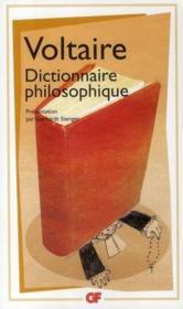 Dictionnaire philosophique - Couverture - Format classique
