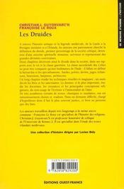 Les druides - 4ème de couverture - Format classique