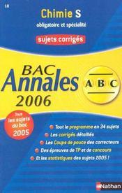 Abc Du Bac T.10 ; Annales ; Sujets Corriges ; Bac 2006 - Intérieur - Format classique