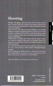 Shooting - 4ème de couverture - Format classique