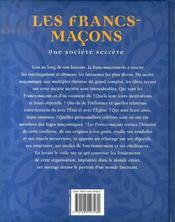 Les francs-maçons, une société secrète - 4ème de couverture - Format classique