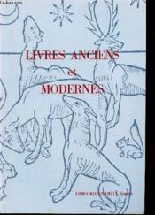 Catalogue N°6 - Livres Anciens Er Modernes - Couverture - Format classique