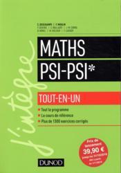 Mathématiques tout-en-un PSI / PSI* - Couverture - Format classique