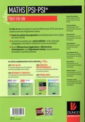 Mathématiques tout-en-un PSI / PSI* - 4ème de couverture - Format classique