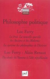 Philosophie politique - Intérieur - Format classique