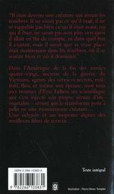 Feux D'Ombre - 4ème de couverture - Format classique