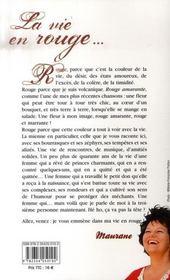 Maurane ; la vie en rouge - 4ème de couverture - Format classique
