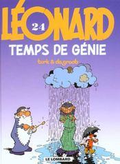 Leonard ancienne edition - t24 - temps de genie - Intérieur - Format classique