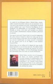 La lettre de l'esprit melanges offerts a michel sales - 4ème de couverture - Format classique