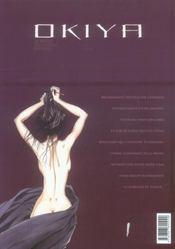 Okiya La Maison Des Plaisirs Defendus - 4ème de couverture - Format classique