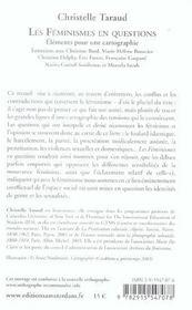Feminismes en questions (les) - 4ème de couverture - Format classique
