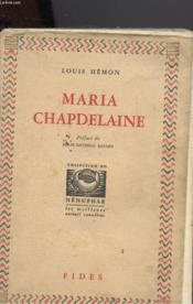 Maria Chapdelaine - Couverture - Format classique