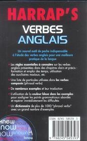Harrap'S Verbes Anglais - 4ème de couverture - Format classique