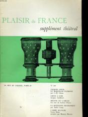 Plaisir De France Supplement Theatral N°349 - Couverture - Format classique