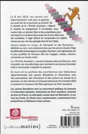 Priorité jeunesse ; le bilan et les propositions des Jeunes socialistes - 4ème de couverture - Format classique