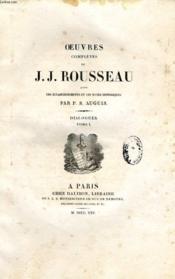 Oeuvres Completes De J. J. Rousseau, Tomes Xx-Xxi, Dialogues (2 Tomes) - Couverture - Format classique