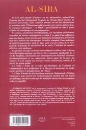 Al-Sîra t.2 ; le prophète de l'Islam raconté par ses compagnons - 4ème de couverture - Format classique