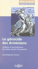 Le génocide des arméniens ; origine et permanence du crime contre l'humanité - Intérieur - Format classique