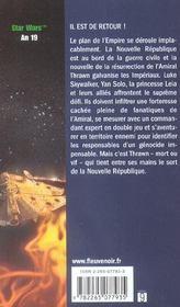 Star Wars t.35 ; la main de Thrawn t.2 ; vision du futur - 4ème de couverture - Format classique