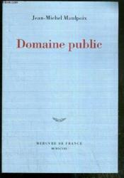 Domaine public - Couverture - Format classique