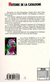 Histoire de la Catalogne - 4ème de couverture - Format classique