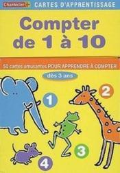Cartes d'apprentissage ; compter de 1 à 10 - Couverture - Format classique