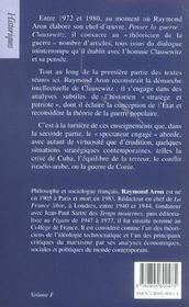 Sur Clausewitz (édition 2005) - 4ème de couverture - Format classique
