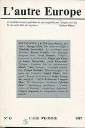 A13 Autre Europe (L') Sociologie A L'Est - Couverture - Format classique