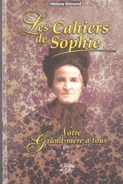 Les Cahiers De Sophie - Intérieur - Format classique