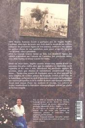 Les Cahiers De Sophie - 4ème de couverture - Format classique
