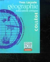 Geographie College - Couverture - Format classique