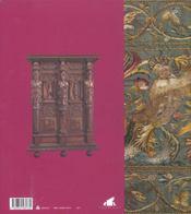 Parures D'Or Et De Pourpre ; Le Mobilier A La Cour Des Valois - 4ème de couverture - Format classique