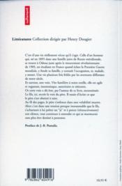 Autobiographie de mon pere - 4ème de couverture - Format classique