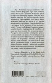 L'ange d'Avrigue - 4ème de couverture - Format classique