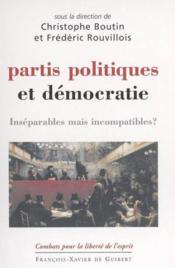 Partis politiques et democratie - Couverture - Format classique
