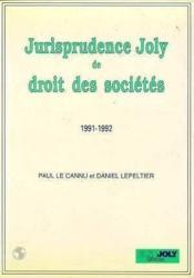 Jurisp.joly dt stes 1991-1992 - Couverture - Format classique