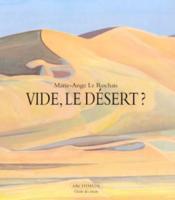 Vide, le desert ? - Couverture - Format classique