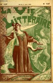 La Hache. 5eme Partie. La Vie Litteraire. - Couverture - Format classique
