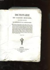 Dictionnaire Des Sciences Medicales. Tome 57. Var-Vie. Par Une Societe De Medecins Et De Chirurgiens. - Couverture - Format classique