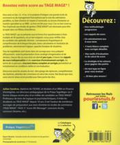 Le tage-mage tout-en-un pour les nuls - 4ème de couverture - Format classique