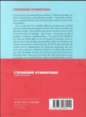 L'économie symbiotique ; régénérer la planète, l'économie, la société - 4ème de couverture - Format classique