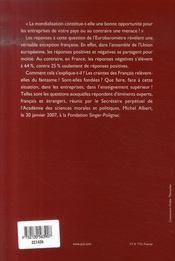 La France et la mondialisation - 4ème de couverture - Format classique